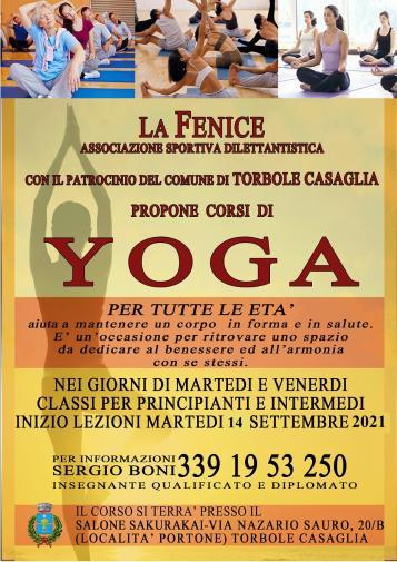 Volantino Corsi di Yoga 2021-22